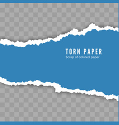 Scrap torn white paper with shadow damaged vector