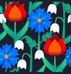 Seamless abstract floral pattern with flower for vector