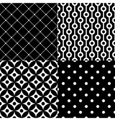 Seamless geometric pattern set vector