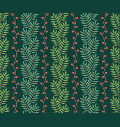 Seamless pattern with vertical rows mountain vector