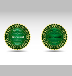 Set of badges vector