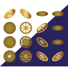 Set of cogwheels vector image