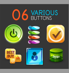 set of internet web buttons vector image