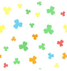 shamrock pattern seamless vector image