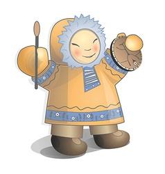 Siberian child vector