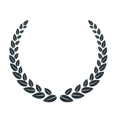 Silhouettes laurel wreath the symbol of vector