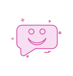 sms chat emoji icon design vector image