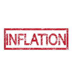 stamp text inflation vector image
