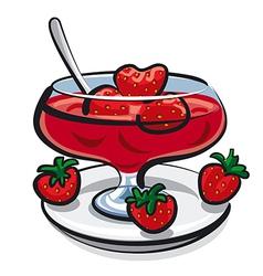 Strawberries jam vector