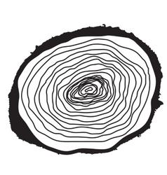 Stump Muzzle Cut of Tree vector image
