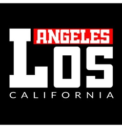 T shirt Los Angeles CA vector image