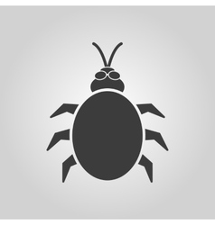 The beetle and bug icon Acarid insect virus vector image