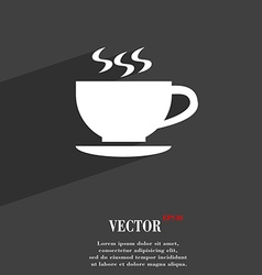 The tea and cup symbol Flat modern web design with vector