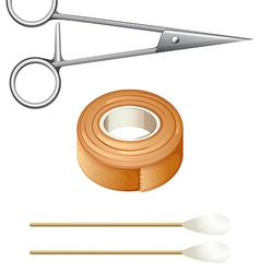 Things needed for first-aid vector image