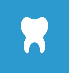 Tooth icon white on the blue background vector