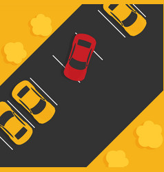 top view of a car parkedflat vector image