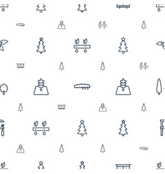 tree icons pattern seamless white background vector image