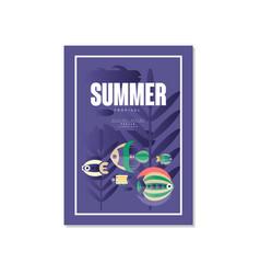 tropical summer poster trendy seasonal background vector image