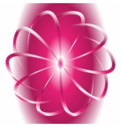 White and pink circular motion background vector