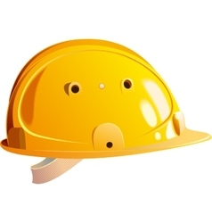 Yellow helmet builder vector