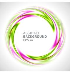Abstract green and pink swirl circle bright vector image vector image