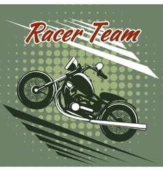 Classic motorcycle race team design vector image vector image