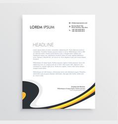 clean modern business letterhead template design vector image vector image