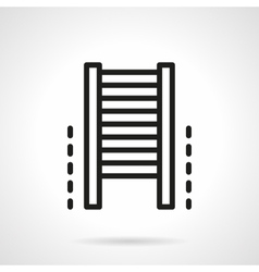 Climb wall bars simple line icon vector image