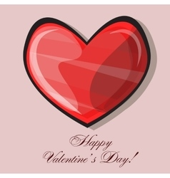 Red heart classic valentines day vector image vector image