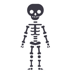 skeletone line icon sign on vector image