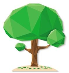 tree polygon b vector image