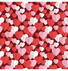 valentine hearts pattern vector image