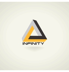 Conceptual infinity symbol icon template logo vector image vector image