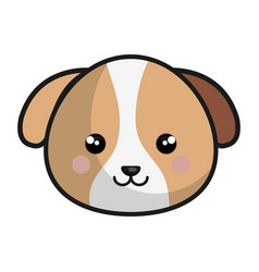 Cute dog kawaii style vector