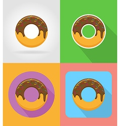 fast food flat icons 15 vector image