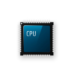 microchip processor on white background vector image