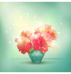Shining flowers roses in vase vector image vector image