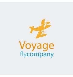 Travel logo icon vector image vector image