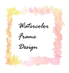 Watercolor frame design vector image vector image