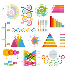 big set of infographics elements graphics vector image vector image