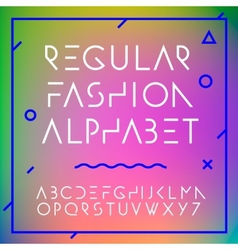 Fashion alphabet letters collection vector image vector image