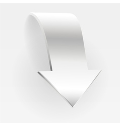 Arrow White Banner vector image