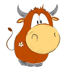 Funny cow vector image vector image