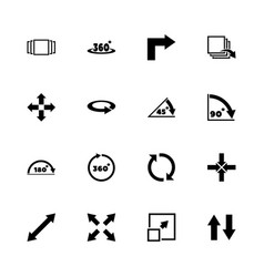 rotate - flat icons vector image vector image