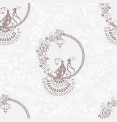 wedding lace background vector image