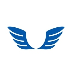 A pair of blue wings icon simple style vector image