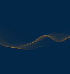 Abstract background 3d wave lines flowing vector