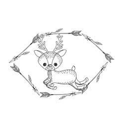animal drawing style boho icon vector image