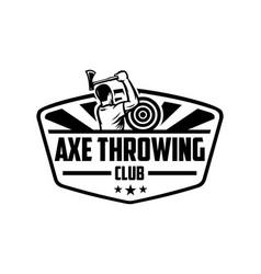 axe throwing club logo template vector image