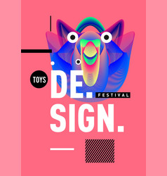 Banner design template with abstract curvy vector